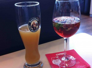 Lufthansa Senator Lounge Drinks in Frankfurt