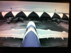 Thai Airways A380 Camera View from the Tail