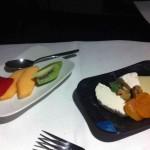 Lufthansa JFK-FRA Fruit Platter