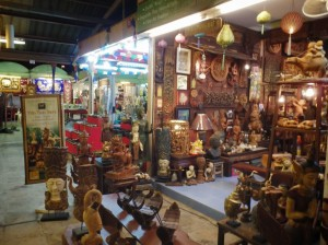 Thailand Night Market - Wood Carvings