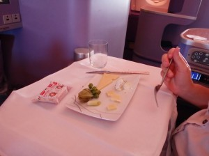 Thai Airways Cheese Platter